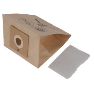 Confezione 6 sacchi carta+filtro micro - Mini Space - Moulinex Tefal