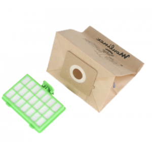 Confezione 10 sacchi carta+filtro Hepa - Zeleo - Moulinex Tefal
